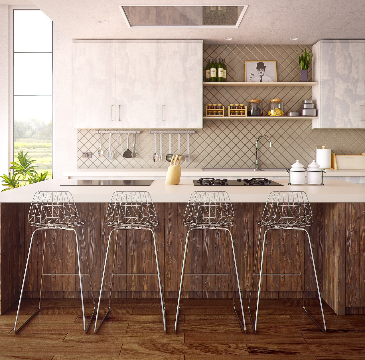 Veilig, schoon en mooi: een glazen keukenachterwand